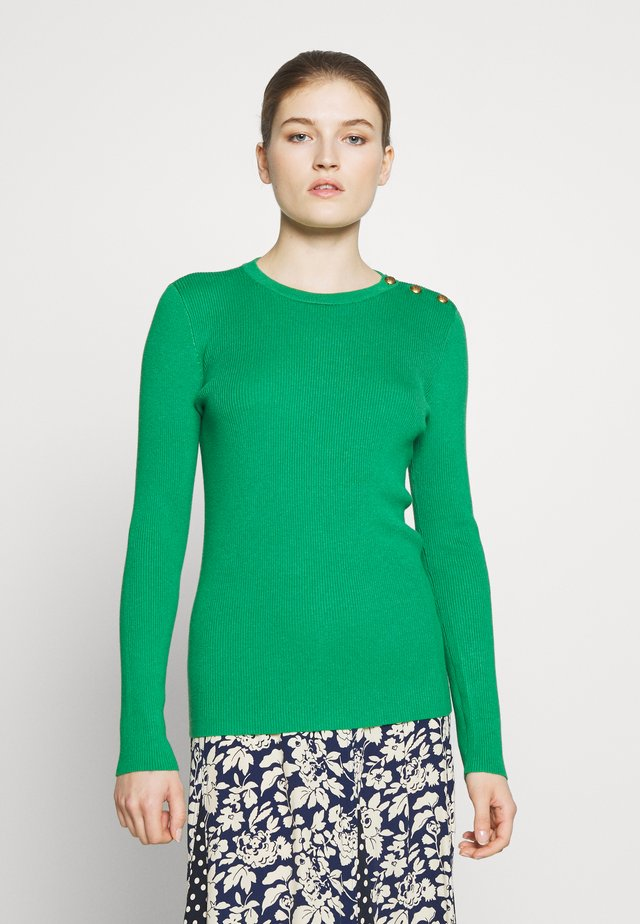 Sweter - hedge green