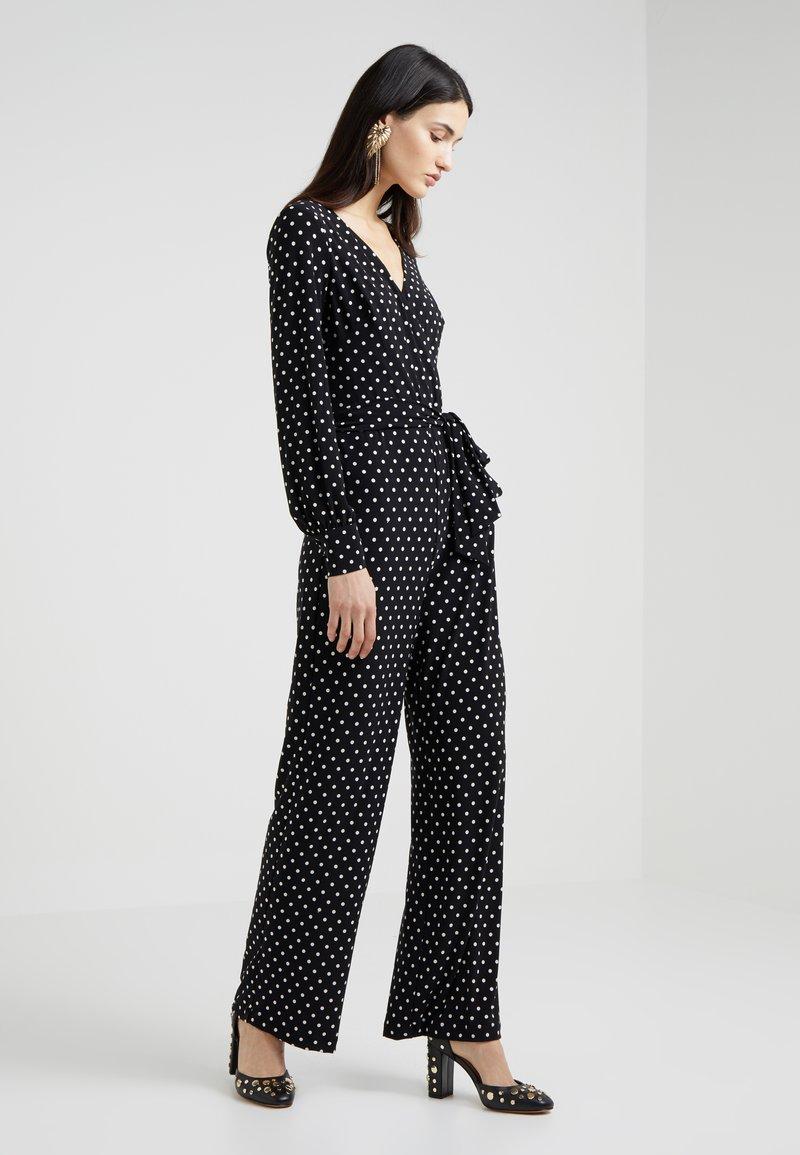 Lauren Ralph Lauren - BOWIE DOT LESLIE - Jumpsuit - black/white