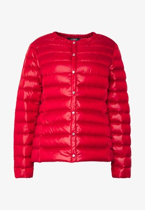 PEARL SHEEN COLLARLESS PACKABLE - Down jacket - red