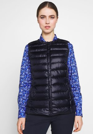 PEARL SHEEN HOZIONTAL QUILT VEST - Smanicato - navy