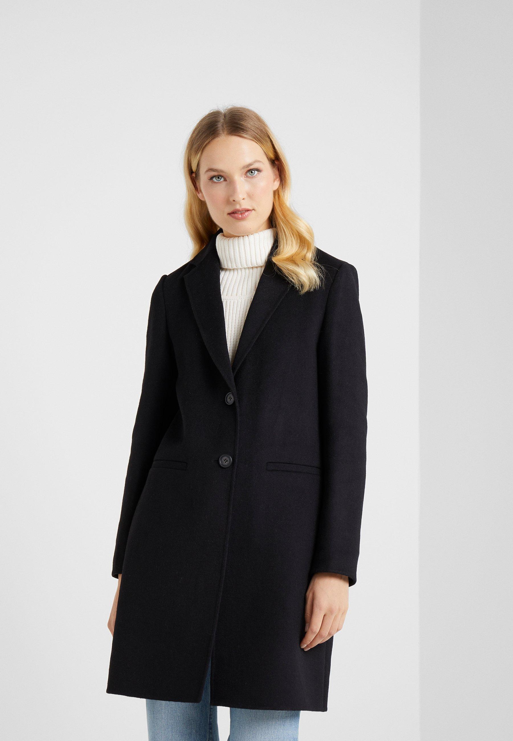 Lauren Ralph Lauren DOUBLE FACE REEFER - Płaszcz wełniany /Płaszcz klasyczny - black
