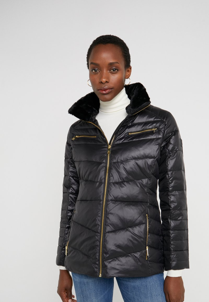 Lauren Ralph Lauren - COAT ZIPPERS - Daunenjacke - black