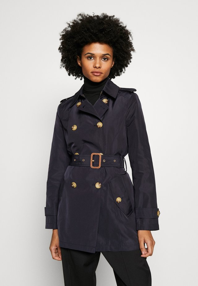 FAUX MEMORY SOFT TAFFETA TRENCH - Trenchcoat - navy