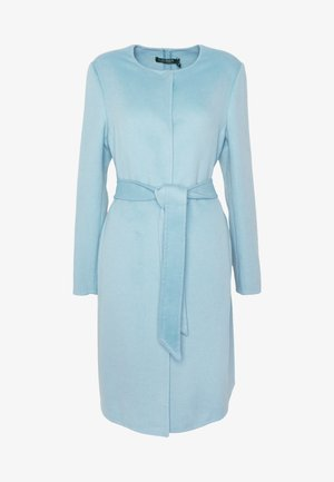 DOUBLE FACE BELTED  - Manteau classique - light blue