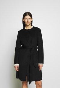 Lauren Ralph Lauren - DOUBLE FACE BELTED  - Płaszcz wełniany /Płaszcz klasyczny - black - 0