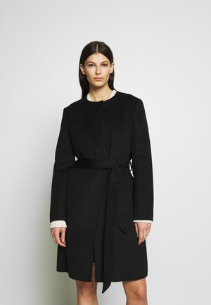 DOUBLE FACE BELTED  - Classic coat - black