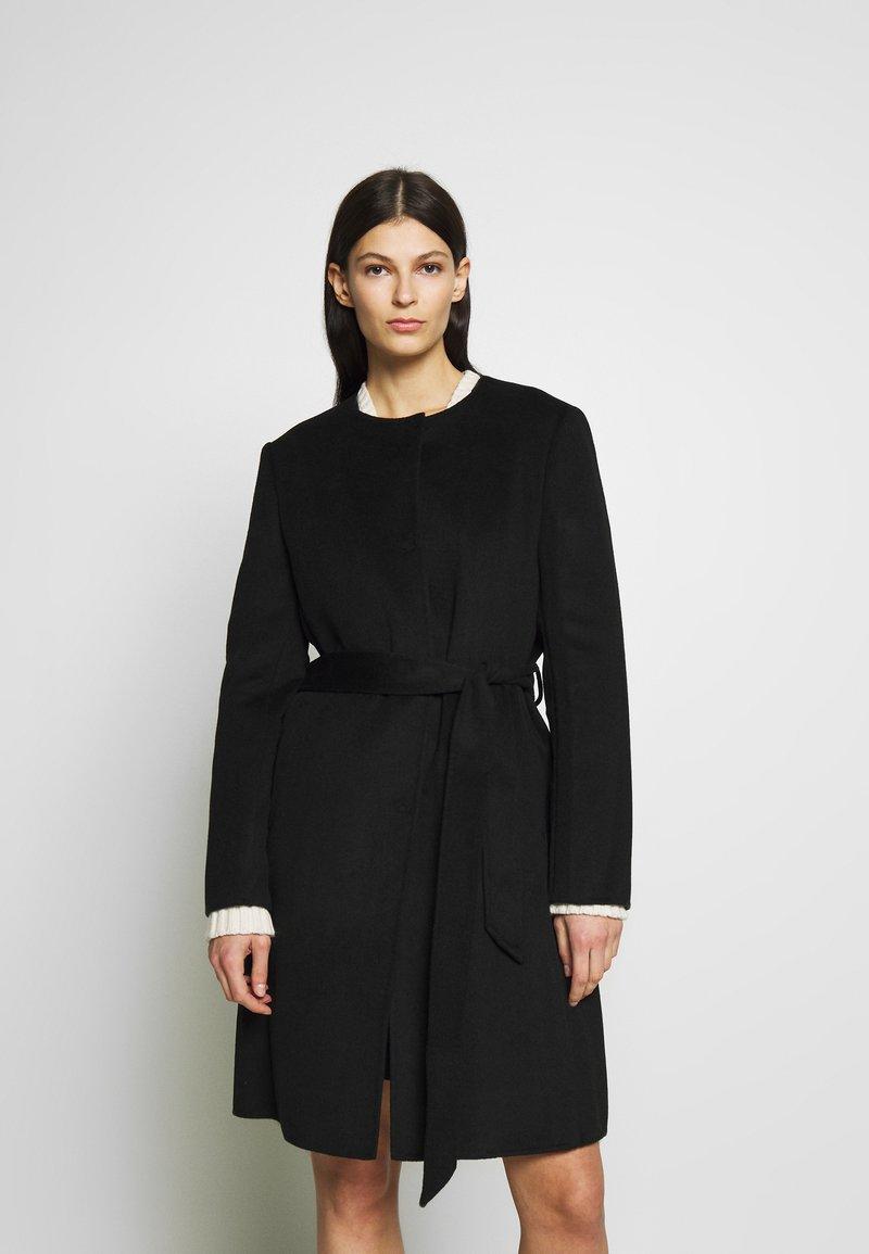 Lauren Ralph Lauren - DOUBLE FACE BELTED  - Płaszcz wełniany /Płaszcz klasyczny - black