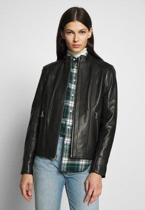 REAL  RACER ANGLED - Leather jacket - black