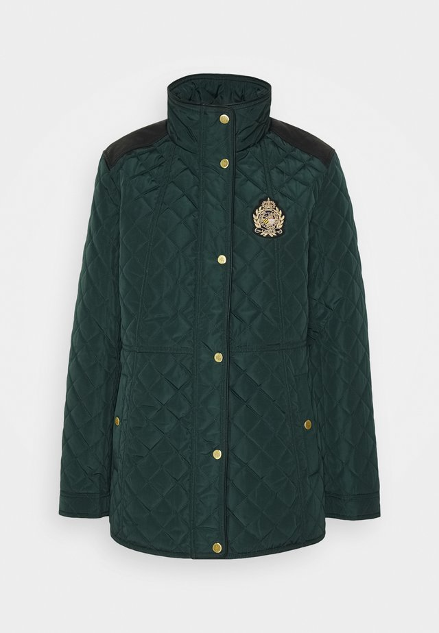 Krótki płaszcz - hunter green
