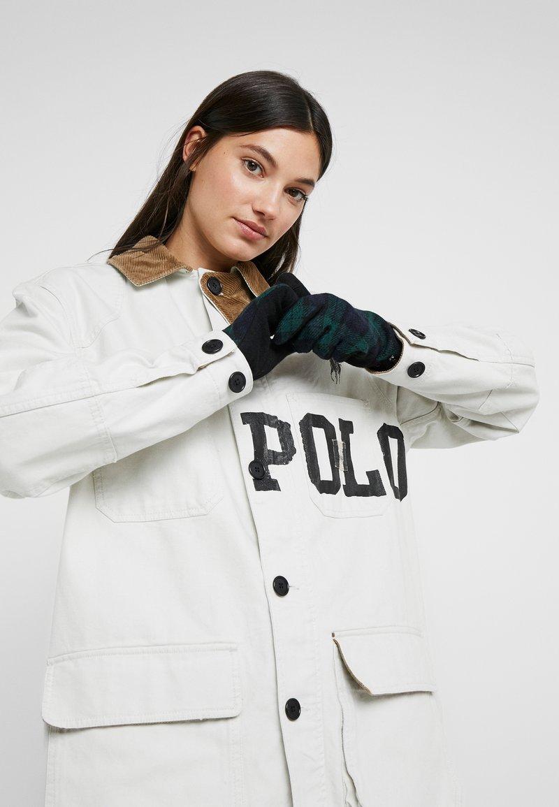 Lauren Ralph Lauren - BLEND BUTTON GLOVE - Handschoenen - black