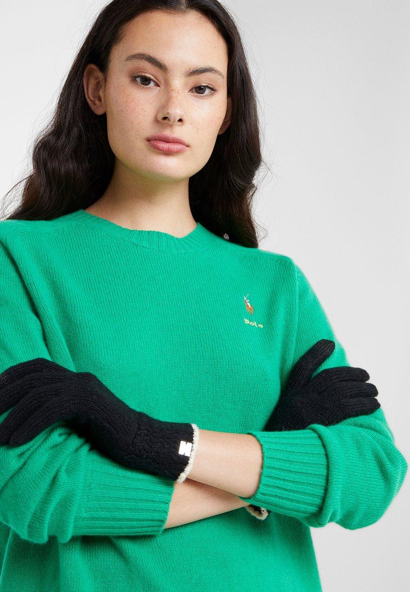 Lauren Ralph Lauren - TOUCH GLOVE - Guantes - black/cream