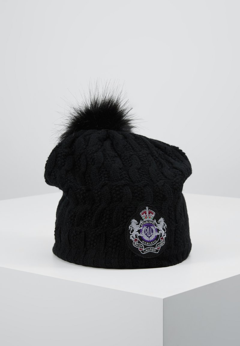 Lauren Ralph Lauren - BLEND CABLE PATCH HAT - Beanie - black