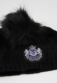 Lauren Ralph Lauren - BLEND CABLE PATCH HAT - Berretto - black - 4