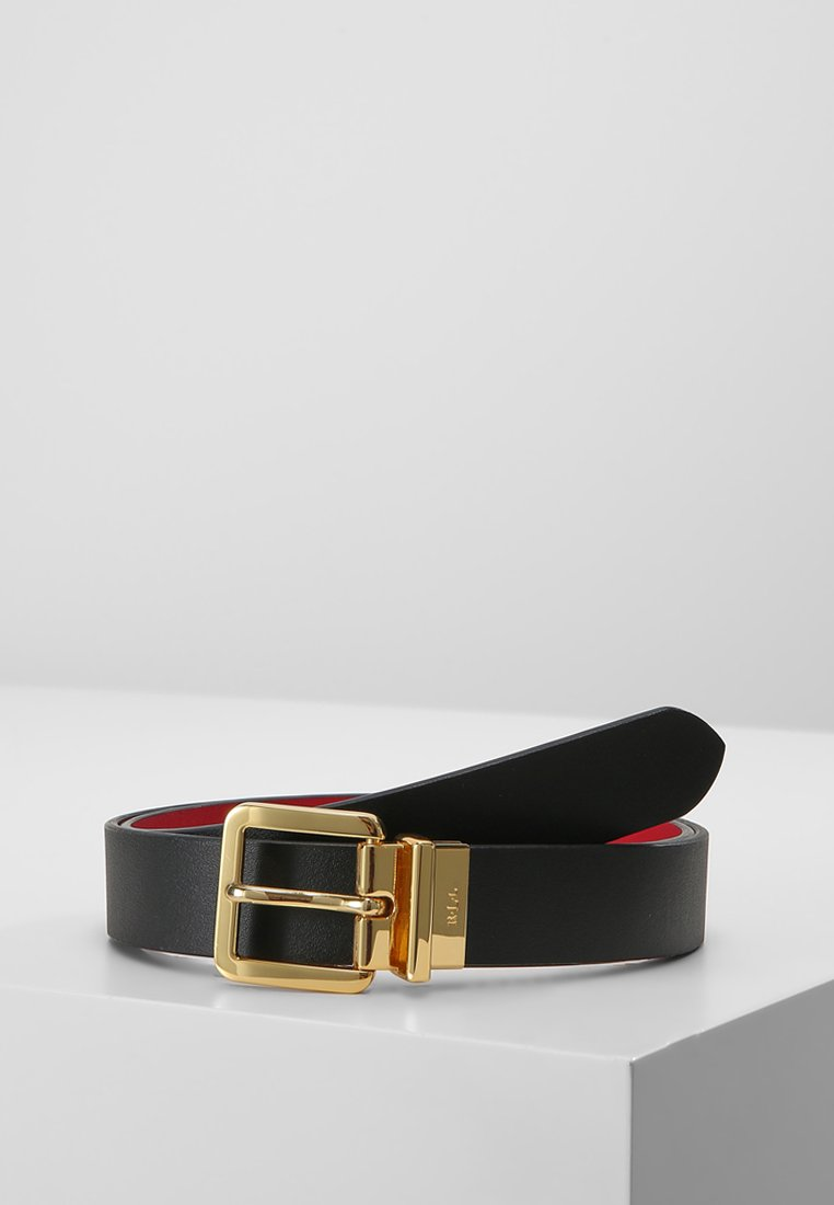 Lauren Ralph Lauren - SUPER SMOOTH  - Ceinture - black/crimson