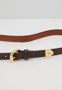 Lauren Ralph Lauren - SOFT GRAIN BENNINGTON - Riem - dark brown - 3