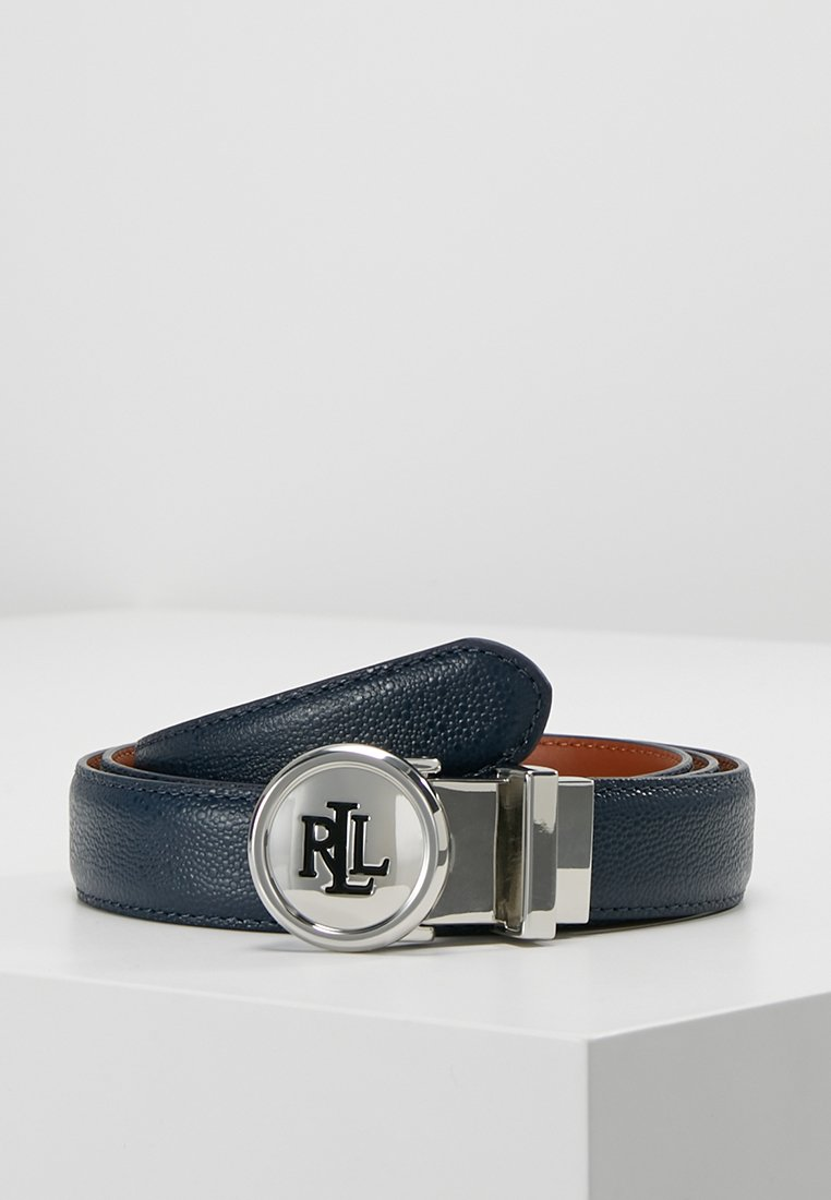 Lauren Ralph Lauren - STINGRAY LOGO - Bælter - navy/tan
