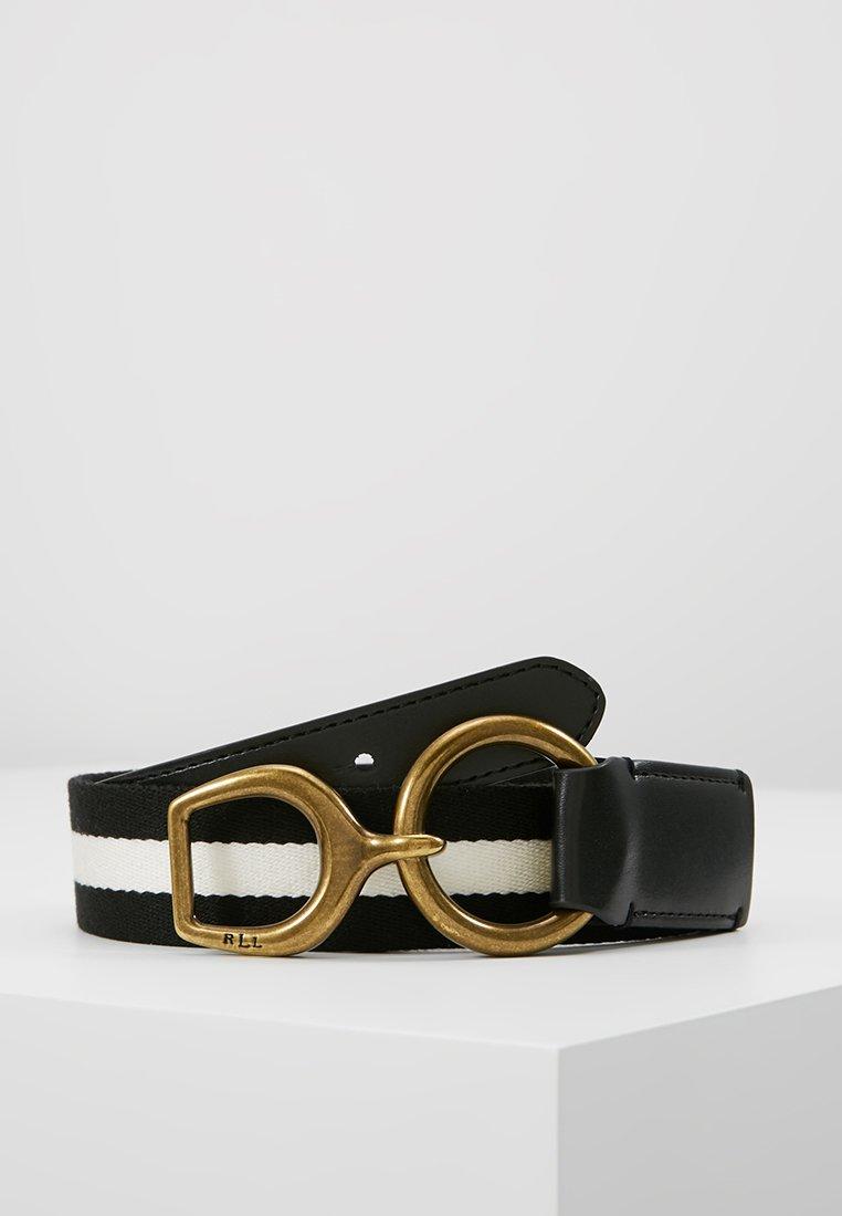 Lauren Ralph Lauren - BARRINGTON CASUAL MEDIUM - Cinturón - black/white