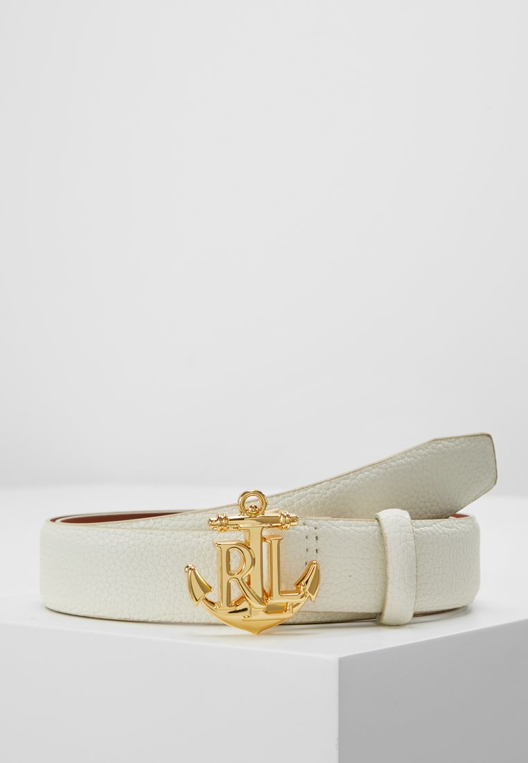 Lauren Ralph Lauren - HUNTLEY CASUAL ANCHOR LOGO - Belt - vanilla