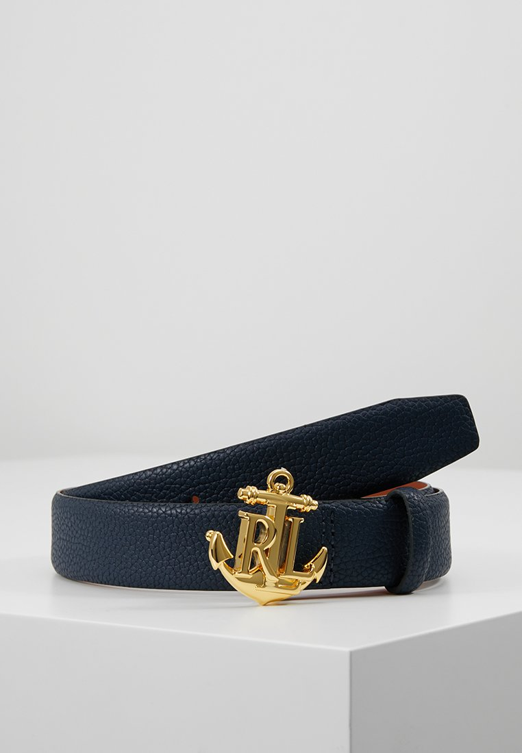 Lauren Ralph Lauren - HUNTLEY CASUAL ANCHOR LOGO - Belt - navy