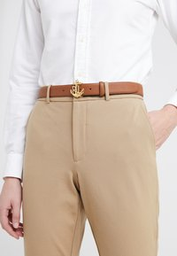 Lauren Ralph Lauren - HUNTLEY CASUAL ANCHOR LOGO - Ceinture - tan - 1