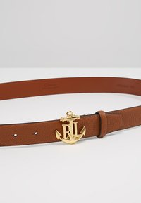 Lauren Ralph Lauren - HUNTLEY CASUAL ANCHOR LOGO - Ceinture - tan - 4