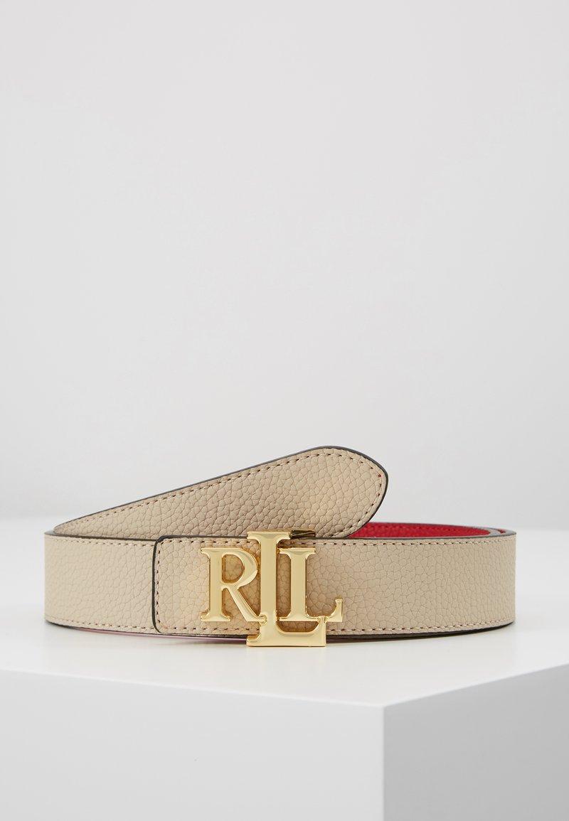 Lauren Ralph Lauren - Pásek - light sand/red