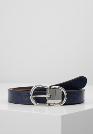 CLASSIC - Pásek - navy/dark brown
