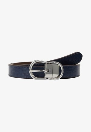 CLASSIC - Pasek - navy/dark brown