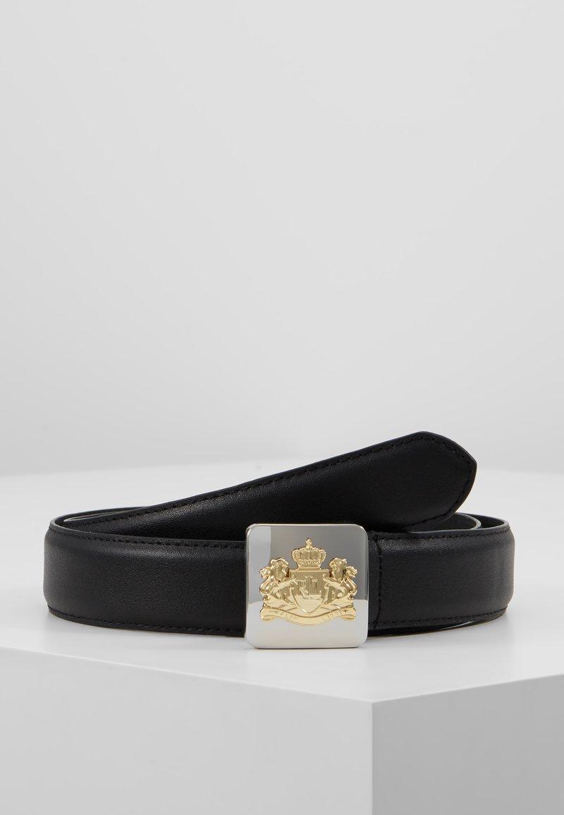 Lauren Ralph Lauren - SUPER SMOOTH CREST PLAQUE - Pásek - black