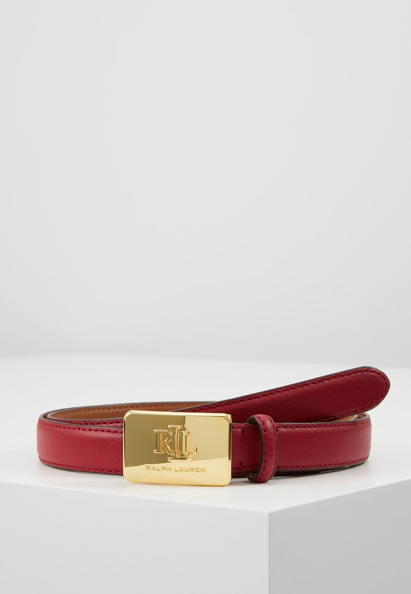 Lauren Ralph Lauren - SUPER SMOOTH LOGO - Gürtel - crimson