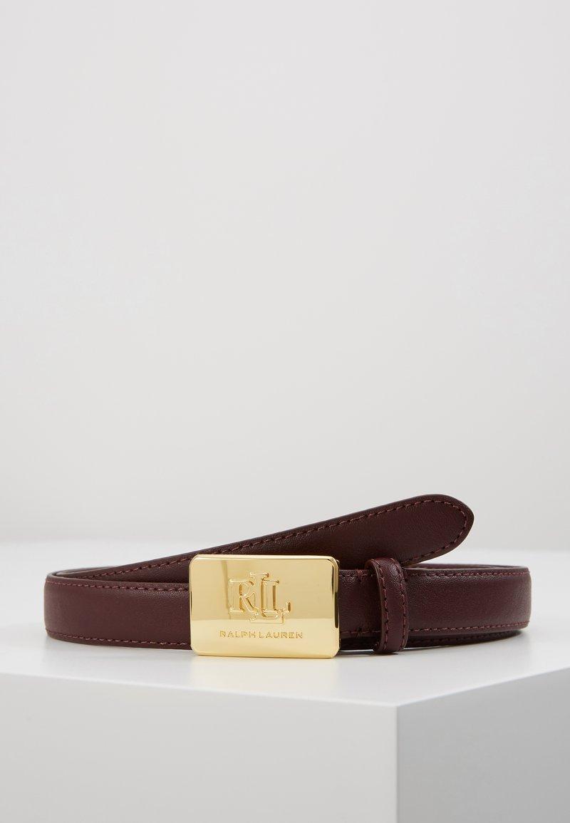 Lauren Ralph Lauren - SUPER SMOOTH LOGO - Belt - bordeaux