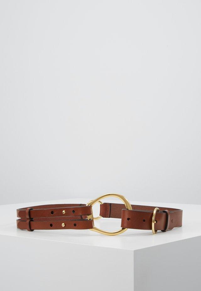 REFINED TRI STRAP  - Waist belt - cuoio