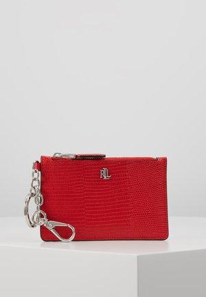 LIZARD EMBOSS ZIP CARD - Portemonnee - sporting red
