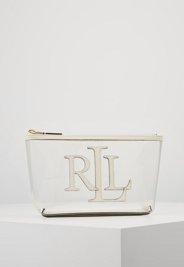 CLEAR - Wash bag - clear/vanilla