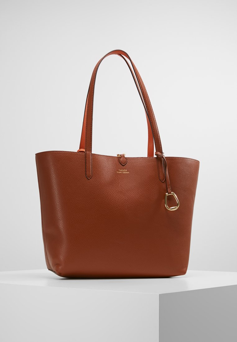 Lauren Ralph Lauren - VEGAN TOTE - Bolso de mano - lauren tan/orange
