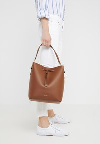 Lauren Ralph Lauren - SUPER SMOOTH DEBBY - Handbag - field brown/orange - 1