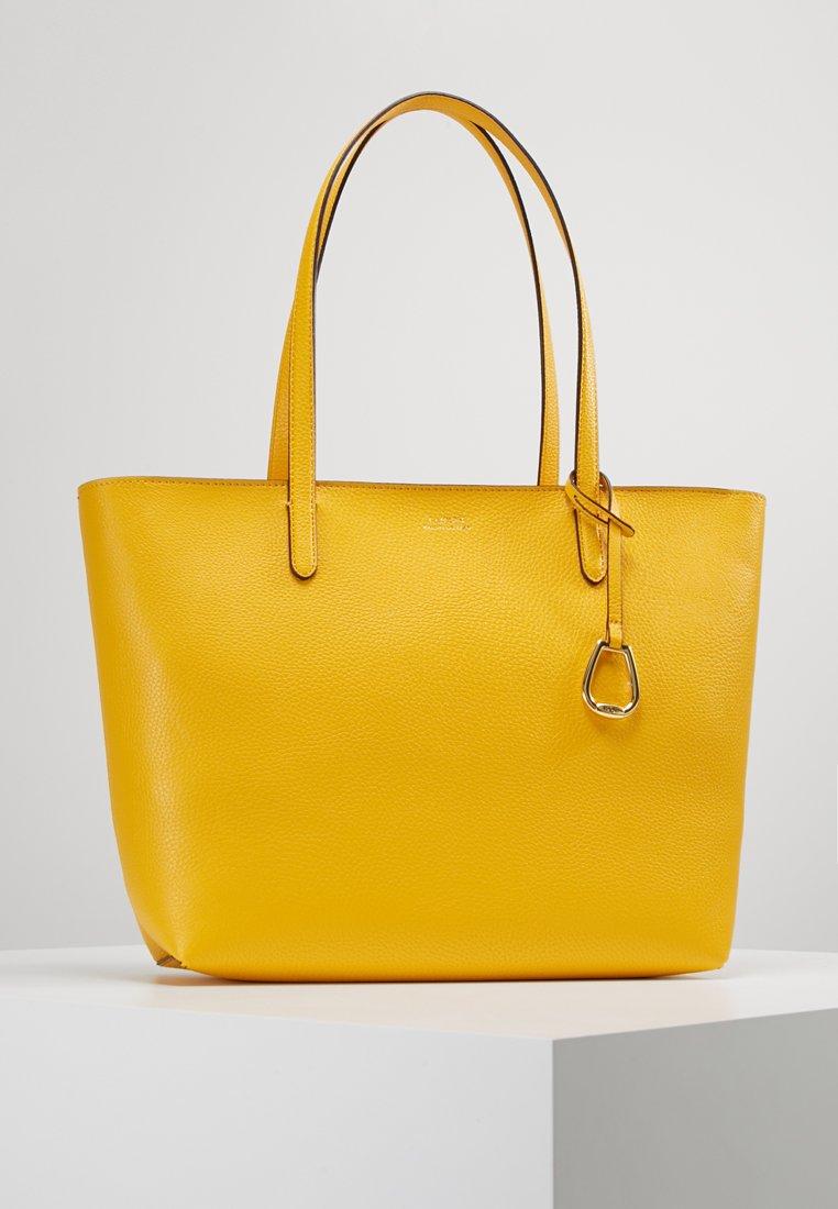Lauren Ralph Lauren - VEGAN TOP ZIP TOTE - Håndtasker - sunflower