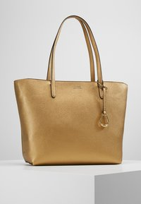 Lauren Ralph Lauren - VEGAN TOP ZIP TOTE - Borsa a mano - deep bronze/black - 0