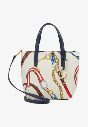 MINI TOTE CROSSBODY MEDIUM - Handbag - vanilla/navy