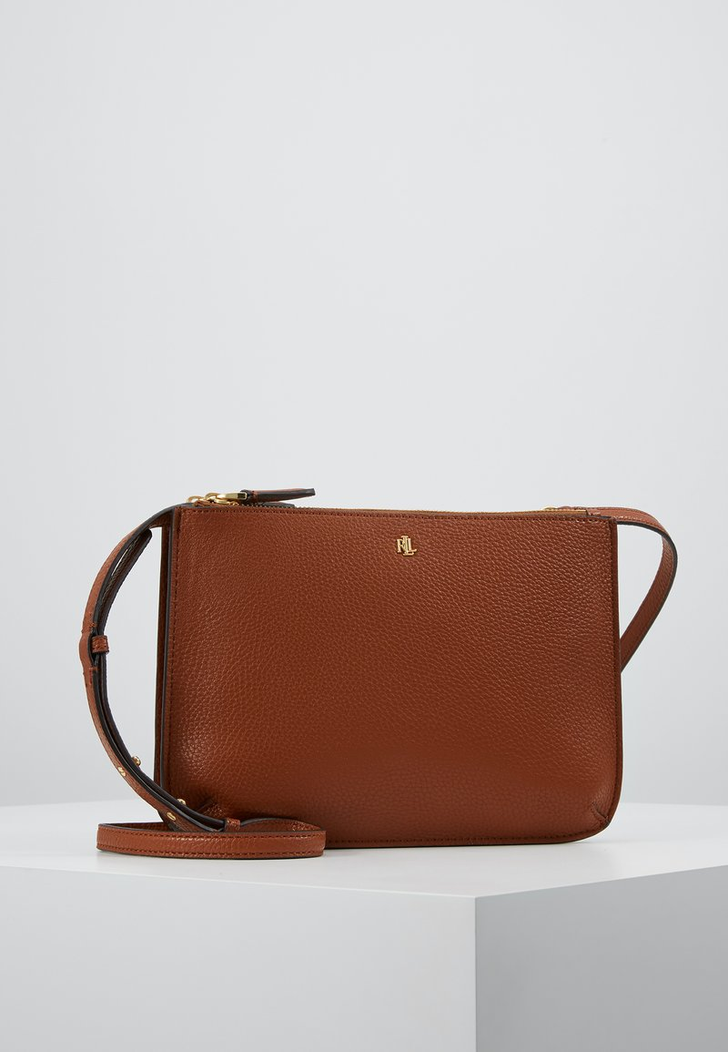 Lauren Ralph Lauren - PEBBLE GRAIN CARTER - Bandolera - lauren tan