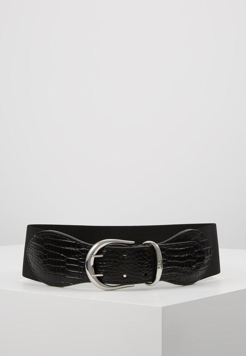 Lauren Ralph Lauren - CROC EMBOSS STRETCH CORNWALL - Tailleriem - black