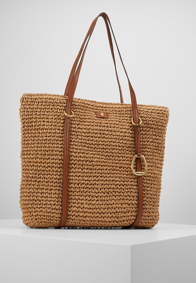 CROCHET STRAW-TOTE-TTE-MED - Shoppingväska - natural