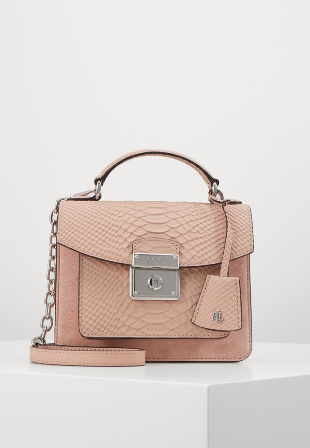 MATTE PYTHON - Käsilaukku - mellow pink