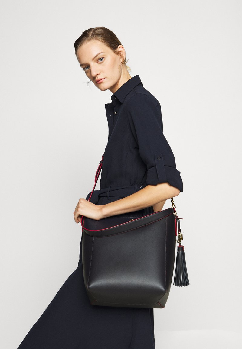 Lauren Ralph Lauren - ADLEY SHOULDER MEDIUM - Sac à main - navy