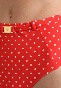 Lauren Ralph Lauren - HIGH WAIST BELTED PANT SHAPING FIT LOGO BELT BUCKLE - Bikinibroekje - red - 4