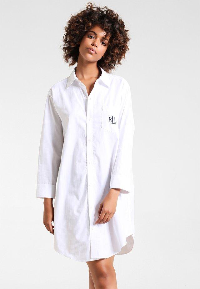 HERITAGE ESSENTIALS CLASSIC HIS SLEEPSHIRT  - Noční košile - white