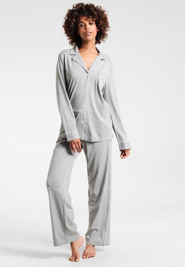Lauren Ralph Lauren - HAMMOND CLASSIC NOTCH COLLAR  - Pyžamová sada - heather grey