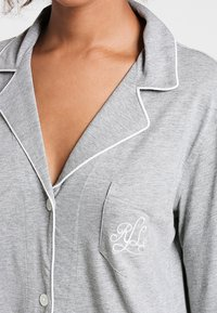 Lauren Ralph Lauren - HAMMOND CLASSIC NOTCH COLLAR SLEEPSHIRT - Negligé - heather grey - 3