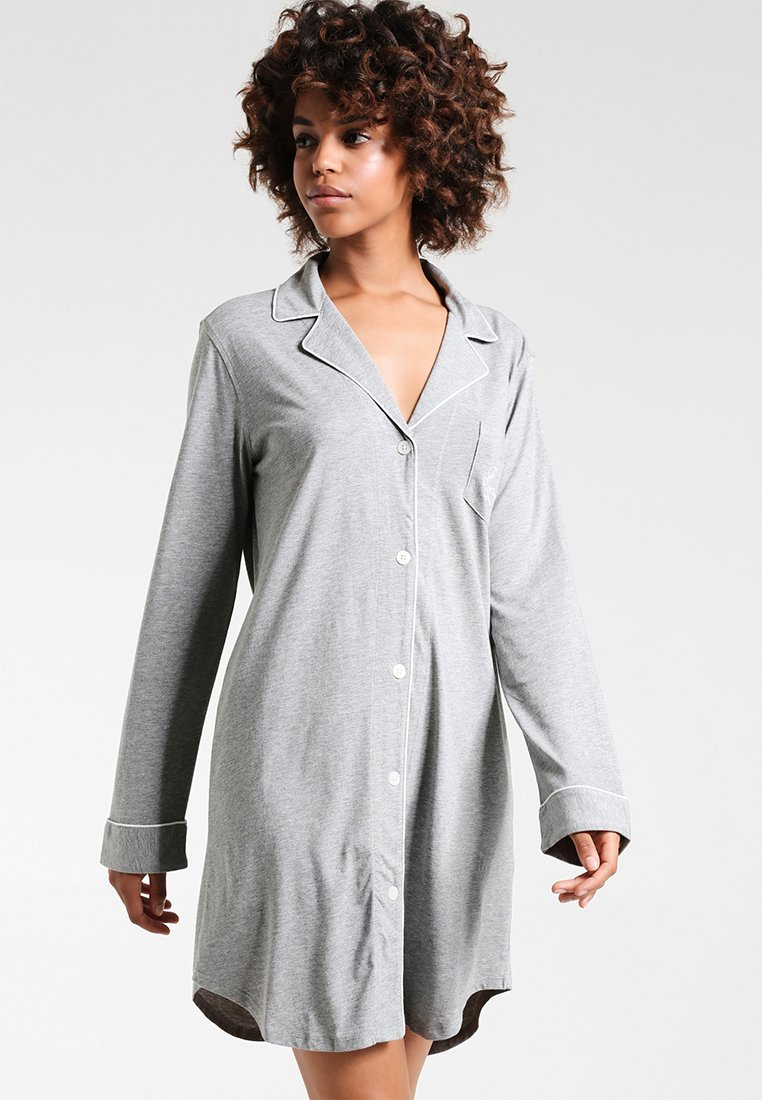 Lauren Ralph Lauren - HAMMOND CLASSIC NOTCH COLLAR SLEEPSHIRT - Negligé - heather grey