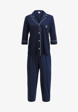 HERITAGE 3/4 SLEEVE CLASSIC NOTCH COLLAR SET - Pyžamová sada - dot navy/white